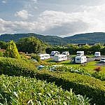 Caravan park and surrounding hills