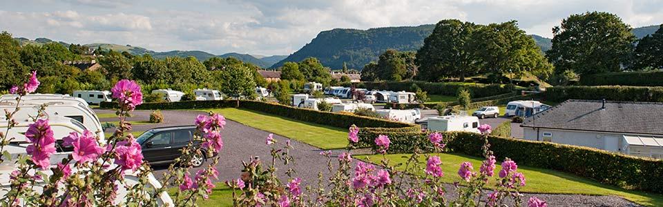 adult only caravan park in Llanrwst near Betws-y-Coed, Snowdonia
